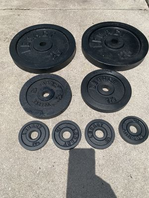 "70 lb total weight plates 1"" hole for Sale in Davie, FL"