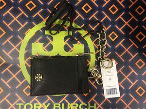 294655c93a11 NWT Tory Burch card case with key fob and detachable lanyard for Sale in  Rosemead