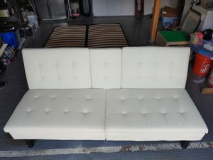 Rarely used Faux Leather Futon for Sale in Bellevue, WA