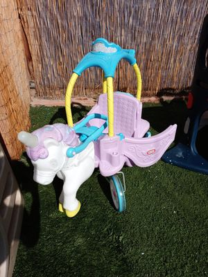 Unicorn carrige car by little tikes for Sale in Corona, CA