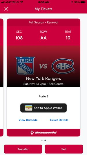 Montreal Canadiens Tickets vs NYR. FIRST ROW!! Pair for Sale in Montréal, QC