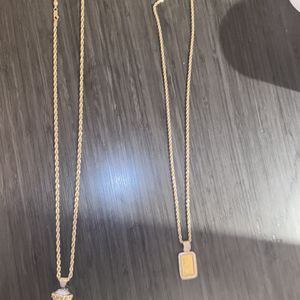 Two 14k Gold Chains W/ Pendants for Sale in Kent, WA