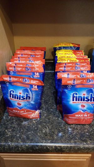 Finish Max in 1 , 14 Dishwasher Tablets pack for Sale in Phoenix, AZ