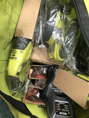 Combo Drill Set, Tools-Power Ryobi 4PC Combo KIT In Bag2 Batteries & Charger for Sale in Baltimore, MD