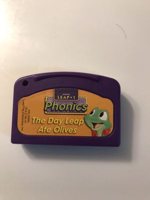 Leapfrog leap 1 phonics the day leap ate olives game cartridge for Sale in Portland, OR