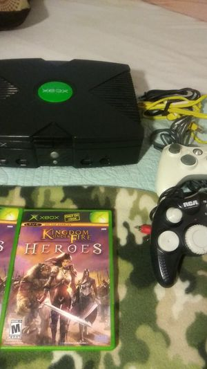 XBOX(Original XBOX-Black & Green Dot,games(2),controllers(2) for Sale in Denver, CO