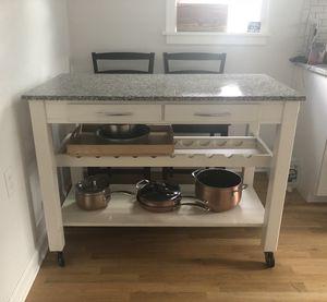 Granite top kitchen island for Sale in Endicott, NY
