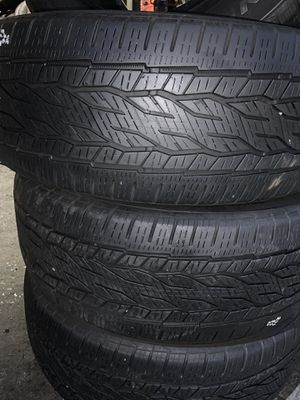275/55/20 4 used tires $180 installed for Sale in Huntington Park, CA