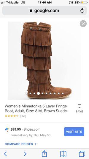 Women's Brown Minnetonka Fringe Boots for Sale in Fairburn, GA