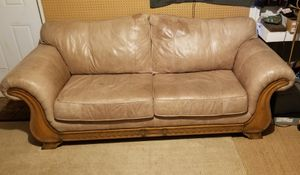 Tan leather couch, downtown for Sale in Orlando, FL