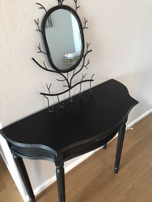 Rustic gothic mirror/ table vanity - multi- purpose $125 for Sale in Fresno, CA