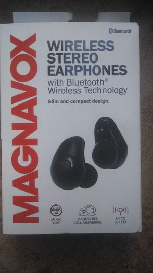 Magnavox wireless stereo earbuds (Color Black, Red and Purple) for Sale in Perris, CA