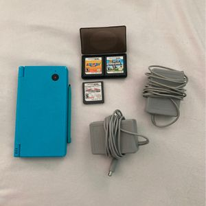 Blue Nintendo DSI-Games included for Sale in Colbert, GA