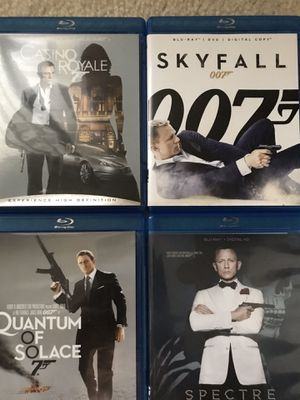 4 James Bond Blu Ray in Excellent Condition for Sale in Westminster, CA