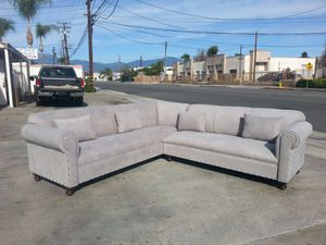 NEW 9X9FT ANNAPOLIS LIGHT GREY FABRIC SECTIONAL COUCHES for Sale in Chula Vista, CA