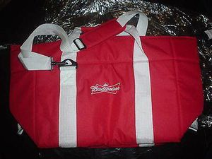 BUDWEISER Beer Bottle Can Logo RaRe RED Bud NEW Unused Insulated COOLER DUFFLE BAG Great for Food Delivery Uber Eats GrubHub Post Mates for Sale in Chicago, IL