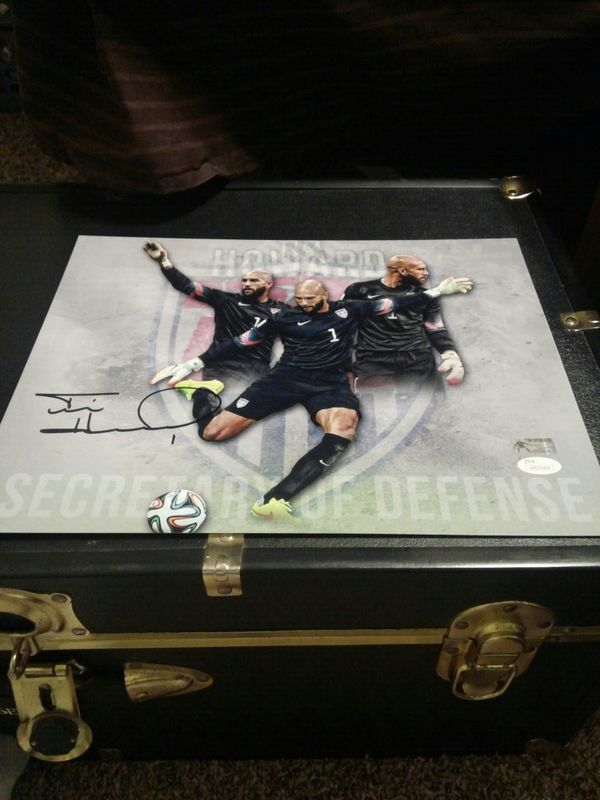 Tim Howard Team USA signed 11x14