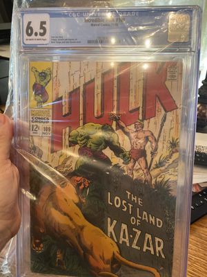Incredible Hulk #109 cgc graded 6.5 from 1968 for Sale in Garden Grove, CA