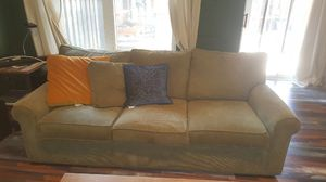 Green plush couch for Sale in Sterling, VA