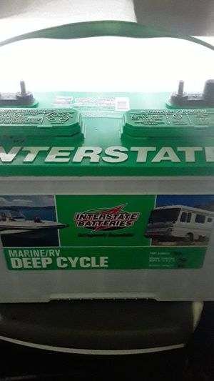 Marine rv deep cycle interstate battery for Sale in Portland, OR