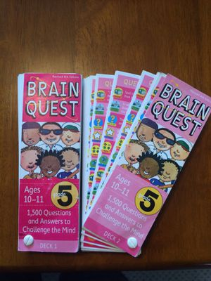 Brain Quest $10 for both Deck 1&2 for Sale in Lakeside, AZ