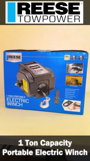 1 Ton Portable Electric Winch - REESE TOWPOWER for Sale in Phoenix, AZ