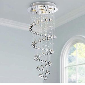 Saint Mossi Modern Crystal Chandelier with 5 Lights,Raindrop Chandelier with K9 Crystal,Spiral Chandelier for Dining Room,Bedroom,Living Room,LED Flus for Sale in Brighton, CO