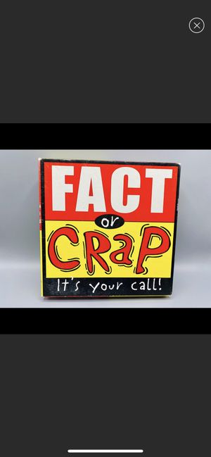 Fact Or Crap Trivia Board Game for Sale in Sanford, ME