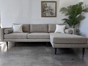 Modern Midcentury Sectional Sofa Couch for Sale in Oceanside, CA