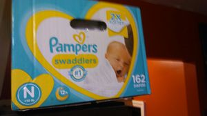 Box 162 newborn diapers for Sale in Brooklyn, NY