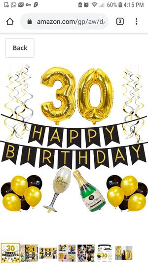 30th Birthday Balloon Pack for Sale in Queens, NY