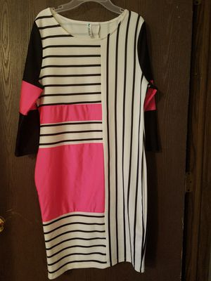 Hot Pink/Black/White Bodycon Dress. for Sale in Columbus, OH