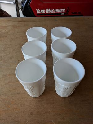 6 antique milk glass tumblers for Sale in Columbia, MD