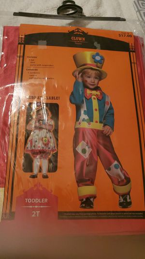 TODDLER CLOWN HALLOWEEN COSTUME for Sale in Morris, CT