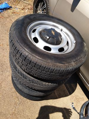 6 lugs tires n rims for chevy for Sale in Moreno Valley, CA