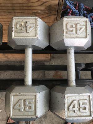 45lb Dumbbells for Sale in Modesto, CA