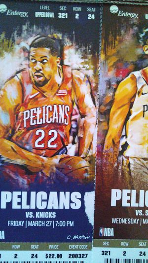 Pels tickets upcoming 9 games for Sale in New Orleans, LA