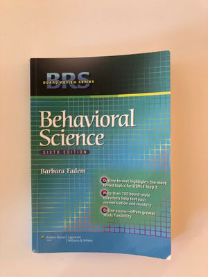 Behavioral Science Sixth Edition (Barbara Fadem) for Sale in New York, NY