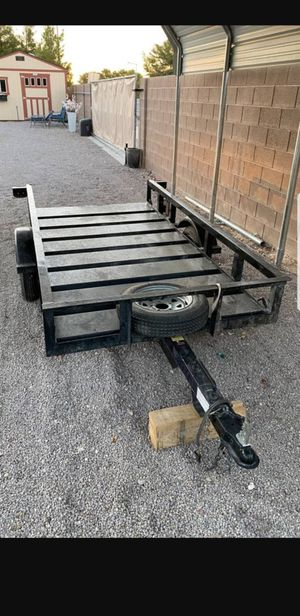 Voyager 4'x8' Heavy Duty Tilt trailer. 2,000lb Load Rated. Spare tire. Always Garaged. Everything Works. All Metal Construction. Title In Hand. for Sale in Las Vegas, NV