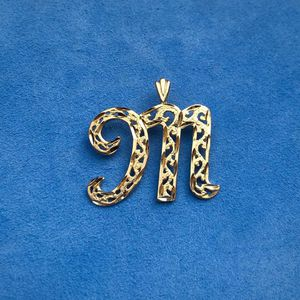 14k gold letter M pendant for Sale in South Gate, CA