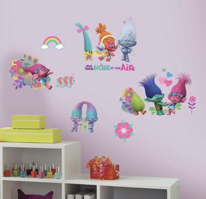 RoomMates 5 in. x 11.5 in. Trolls Movie 24-Piece Peel and Stick Wall Decals NEW for Sale in Glendale, AZ