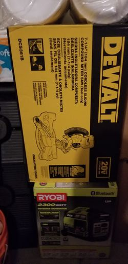 Dewalt 20v Max Cordless 7-1/4 in Sliding Miter Saw Tool Only for Sale in Las Vegas,  NV