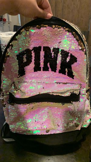 Vs pink sequin backpack. Sold out !!! for Sale in Bellflower, CA