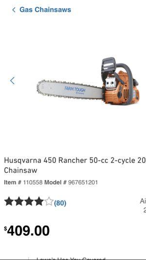 HUSQVARNA 450 Rancher 50-cc 20in Gas Chainsaw for Sale in Poinciana, FL