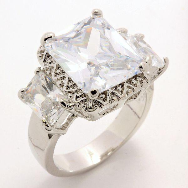 5.5 Carat Sparkling CZ Ring