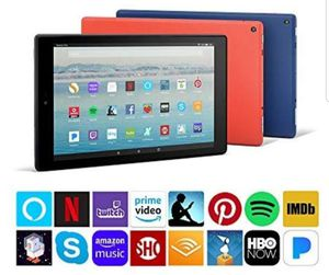 Amazon Fire Hd 10 tablet with Alexa voice for Sale in Alexandria, VA