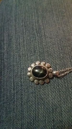 Vintage native american black onyx pendant necklace for Sale in Prineville, OR