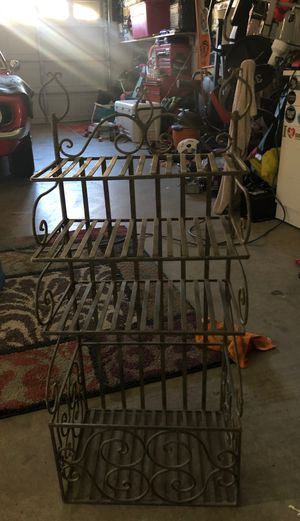 Wrought iron storage/bookcase/shelves for Sale in Tracy, CA