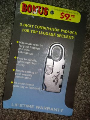 Luggage or personal belongings lock for Sale in US