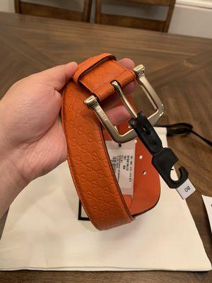 Brand new Gucci GG Logo Women Belt orange Leather for Sale in Rosemead, CA